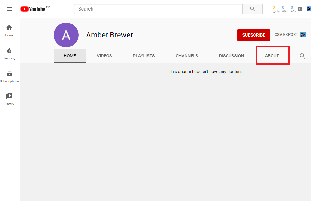 Step 1 to block someone on youtube