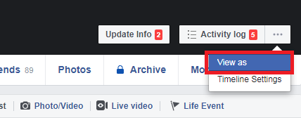"""enable """"View As"""" Option On Your Facebook Profile On A PC"""